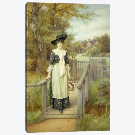 A Country Beauty  Canvas Print #BMN5637} by Charles Edward Wilson Canvas Print