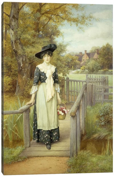 A Country Beauty  Canvas Art Print