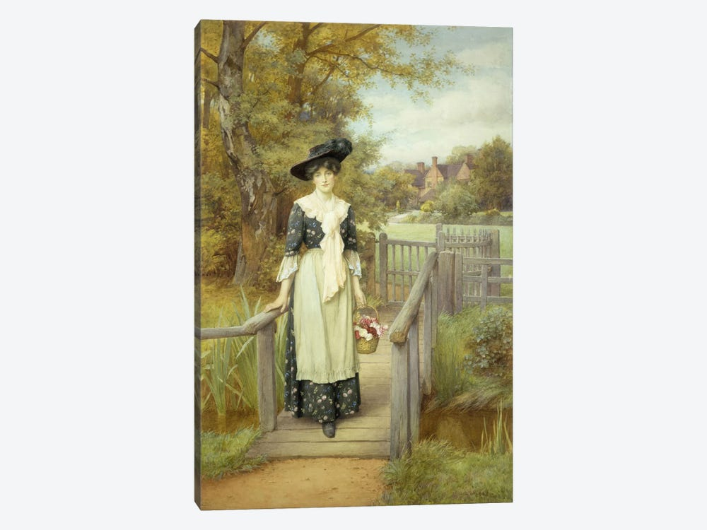 A Country Beauty  by Charles Edward Wilson 1-piece Art Print