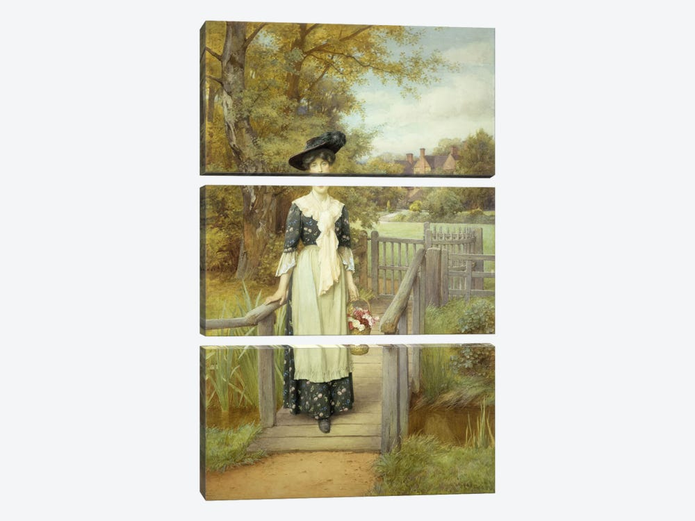 A Country Beauty  by Charles Edward Wilson 3-piece Canvas Print