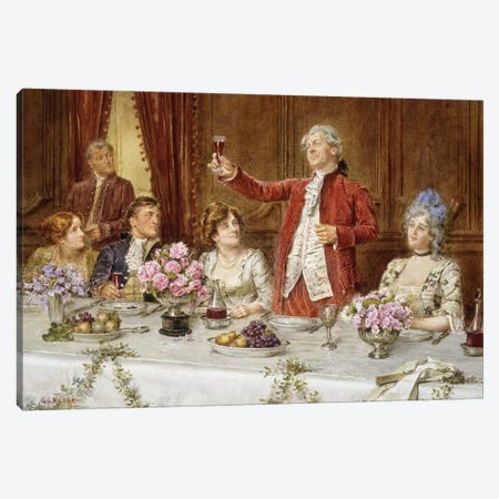 The King!  Canvas Print #BMN5638} by George Goodwin Kilburne Canvas Art