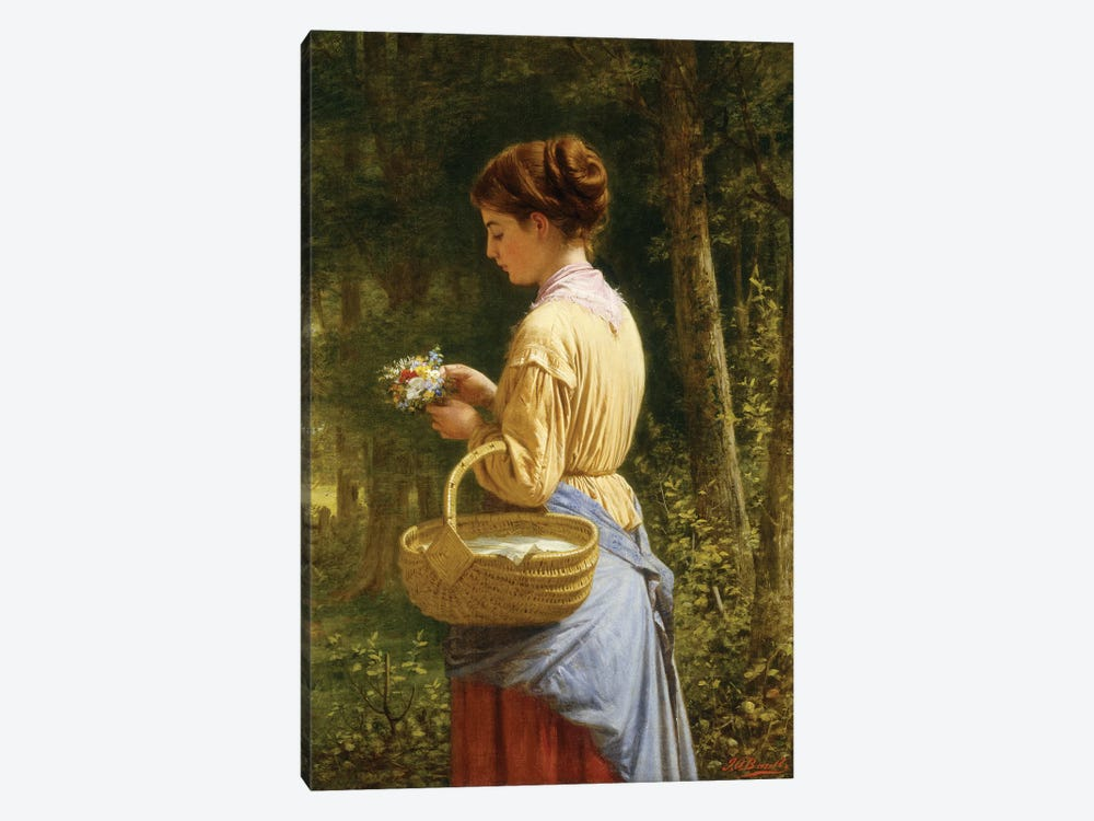 Flowers from the Woods  by J.O. Banks 1-piece Canvas Art Print