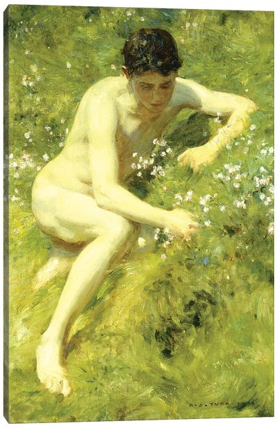 In the Meadow, 1906  Canvas Art Print