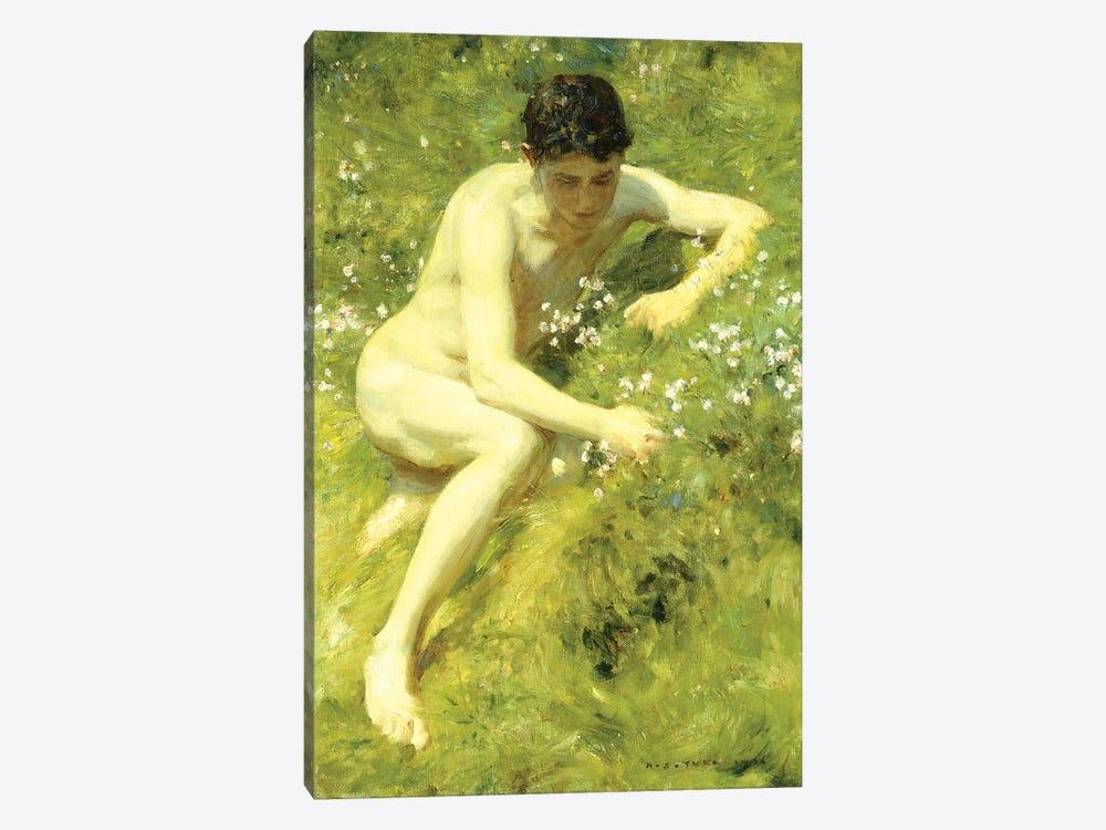 In the Meadow, 1906  by Henry Scott Tuke 1-piece Canvas Wall Art