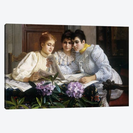 Selecting the Trousseau  Canvas Print #BMN5642} by Eugen von Blaas Art Print