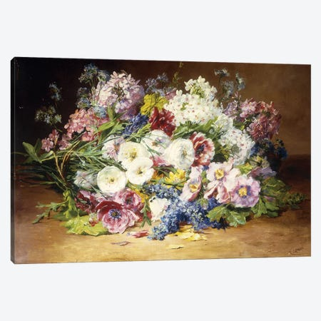 A Splendid Bouquet of Assorted Flowers, c.1861  Canvas Print #BMN5648} by Marie Therese Lemaire Art Print