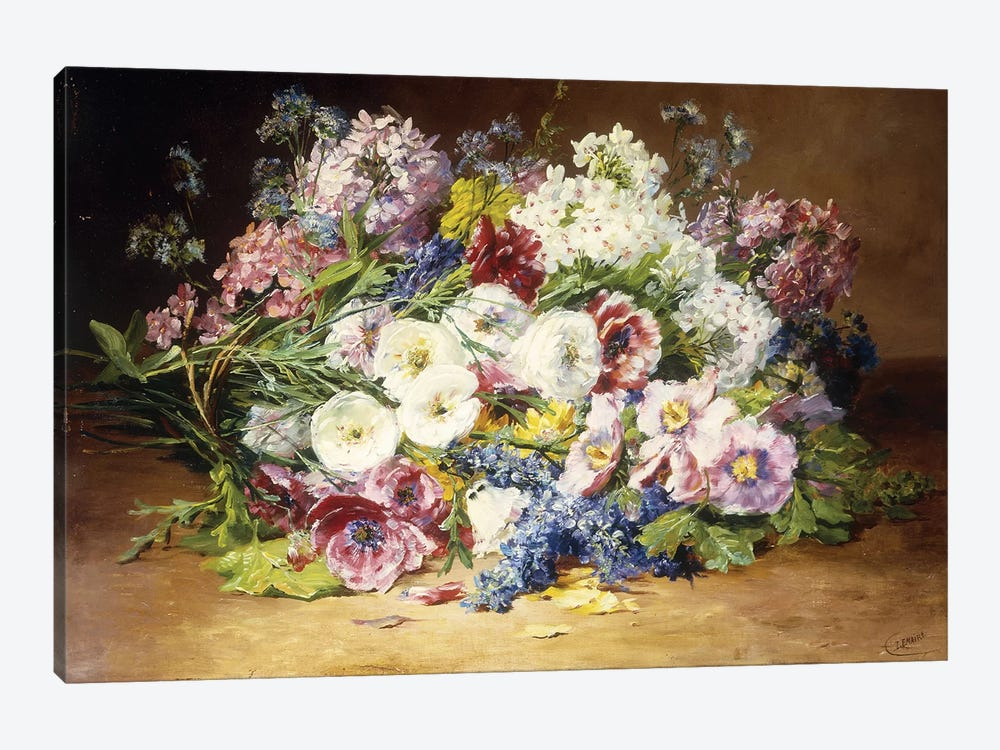 A Splendid Bouquet of Assorted Flowers, c.1861  by Marie Therese Lemaire 1-piece Art Print