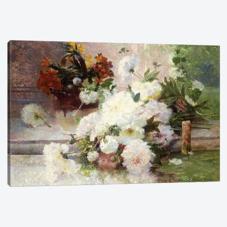 A Still Life with Autumn Flowers  Canvas Print #BMN5649} by Eugene Henri Cauchois Canvas Print