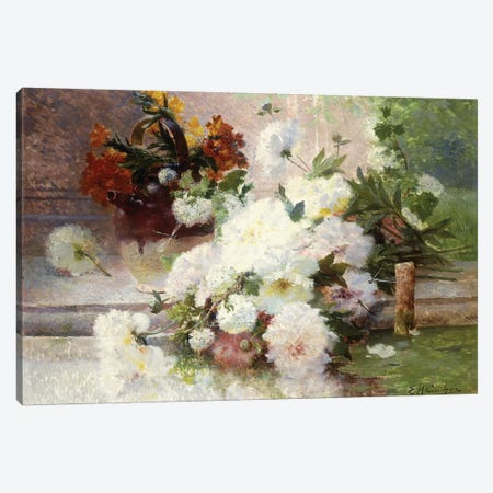 A Still Life with Autumn Flowers  Canvas Print #BMN5649} by Eugene Henri Cauchois Canvas Print
