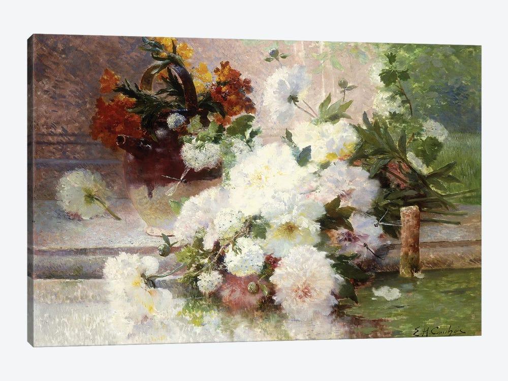 A Still Life with Autumn Flowers  by Eugene Henri Cauchois 1-piece Canvas Artwork