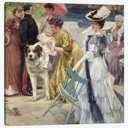 En Famille  Canvas Print #BMN564} by Gustave Grau Canvas Wall Art