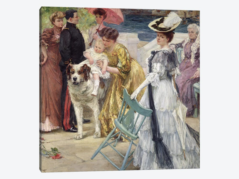 En Famille  by Gustave Grau 1-piece Canvas Art Print