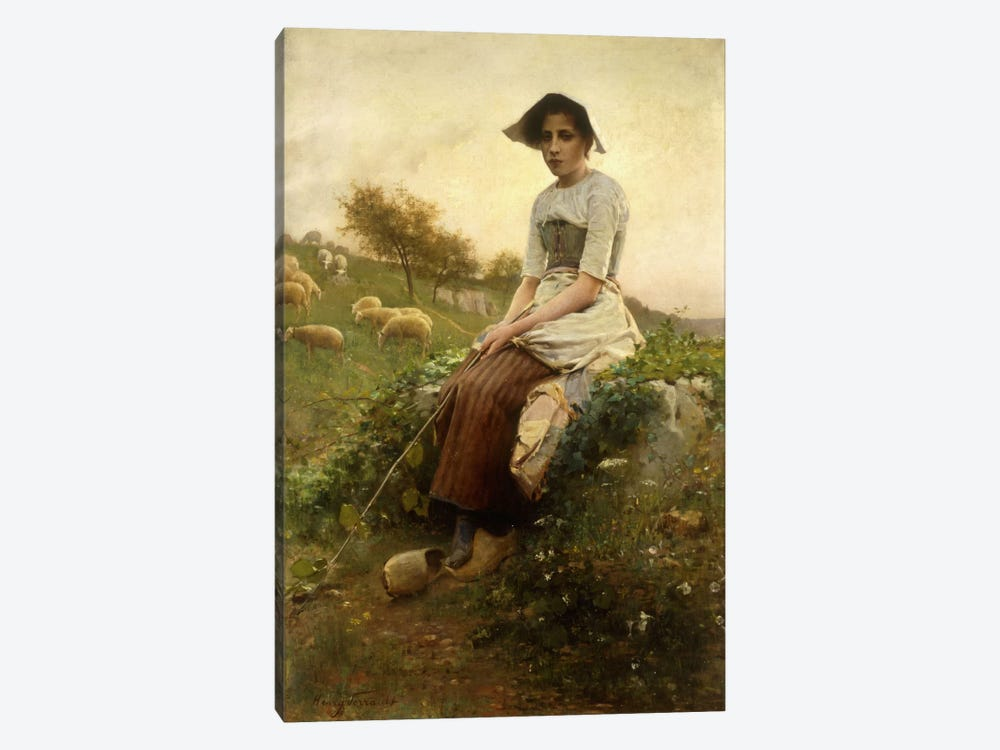 The Shepherdess  by Henry Paul Perrault 1-piece Canvas Wall Art