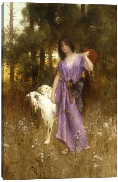 The Shepherdess  Canvas Art Print