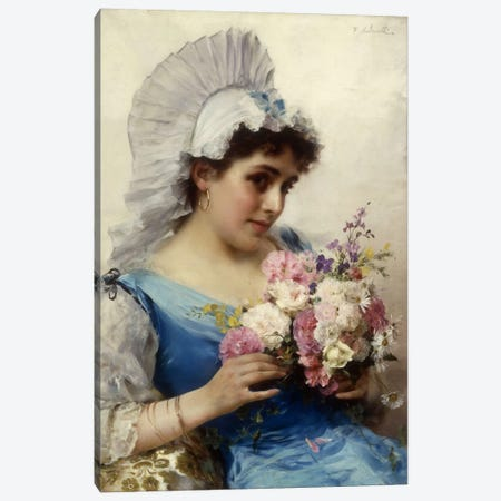 The Bouquet  Canvas Print #BMN5658} by Federigo Andreotti Canvas Art