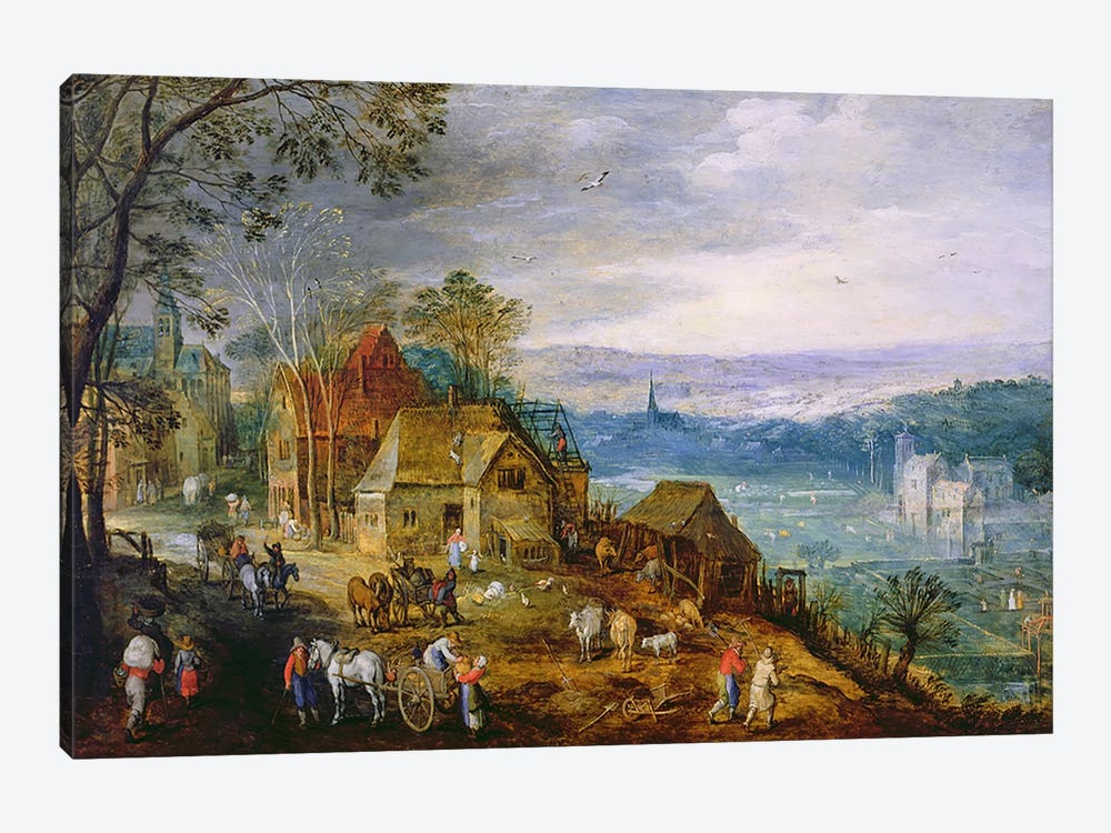 Landscape Scene by Tobias Verhaecht 1-piece Canvas Artwork
