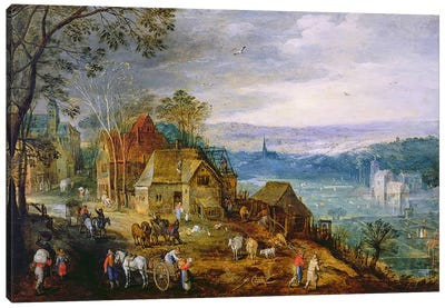 Landscape Scene  Canvas Art Print