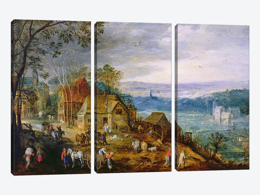 Landscape Scene  by Tobias Verhaecht 3-piece Canvas Wall Art