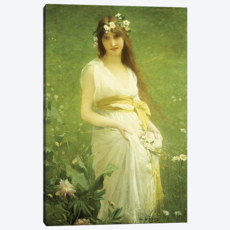 Springtime  Canvas Print #BMN5662} by Jules Joseph Lefebvre Canvas Print