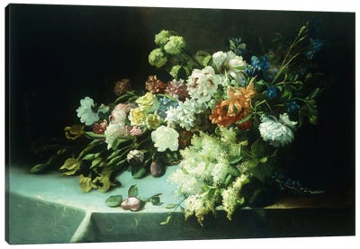 Floral still life, 1884 Canvas Art Print