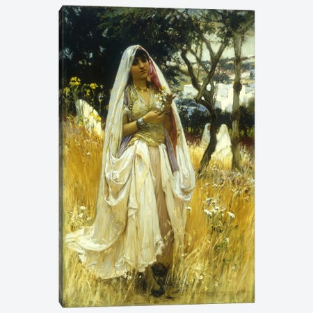 Jeune Maurengue, Campagne d'Alaer  Canvas Print #BMN5665} by Frederick Arthur Bridgman Canvas Artwork