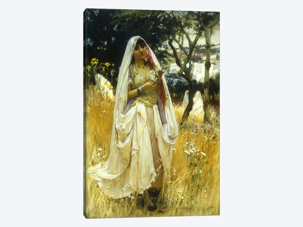 Jeune Maurengue, Campagne d'Alaer  by Frederick Arthur Bridgman 1-piece Canvas Wall Art