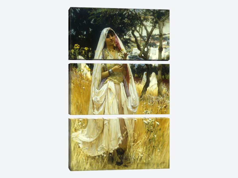 Jeune Maurengue, Campagne d'Alaer  by Frederick Arthur Bridgman 3-piece Canvas Wall Art
