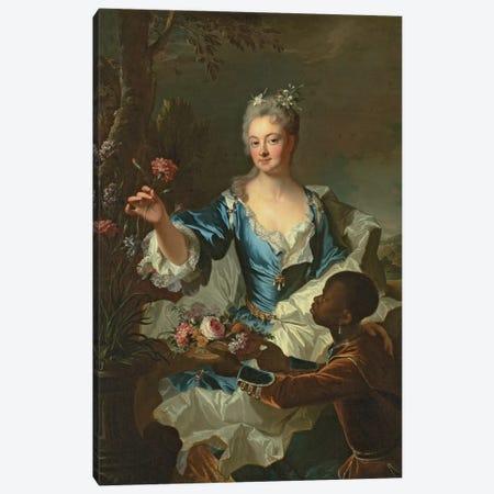 Portrait of Hyacinthe-Sophie de Beschanel-Nointel, Marquise de Louville  Canvas Print #BMN5667} by Hyacinthe Rigaud Canvas Art