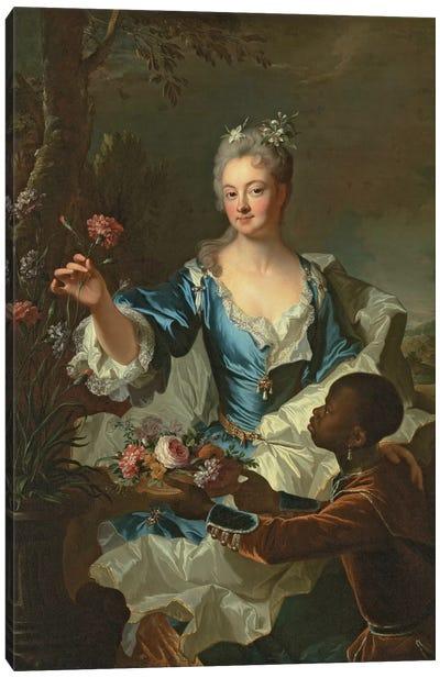 Portrait of Hyacinthe-Sophie de Beschanel-Nointel, Marquise de Louville  Canvas Art Print