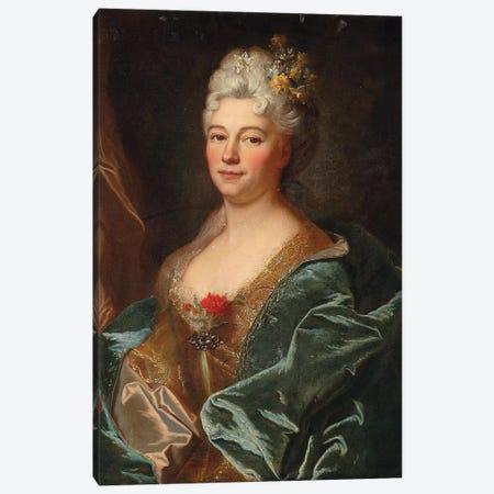 Portrait of the Marquise de la Mesangere, nee Marguerite de Rambouillet   Canvas Print #BMN5668} by Hyacinthe Rigaud Canvas Print