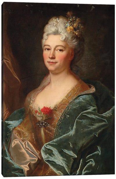 Portrait of the Marquise de la Mesangere, nee Marguerite de Rambouillet   Canvas Art Print