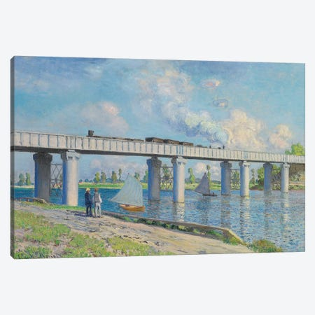 Railway Bridge at Argenteuil, 1873  Canvas Print #BMN5669} by Claude Monet Canvas Art Print