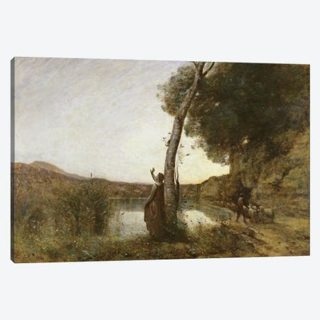The Shepherd's Star, 1864  Canvas Print #BMN566} by Jean-Baptiste-Camille Corot Canvas Art