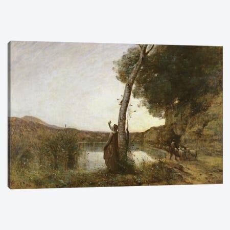 The Shepherd's Star, 1864  Canvas Print #BMN566} by Jean-Baptiste-Camille Corot Canvas Art