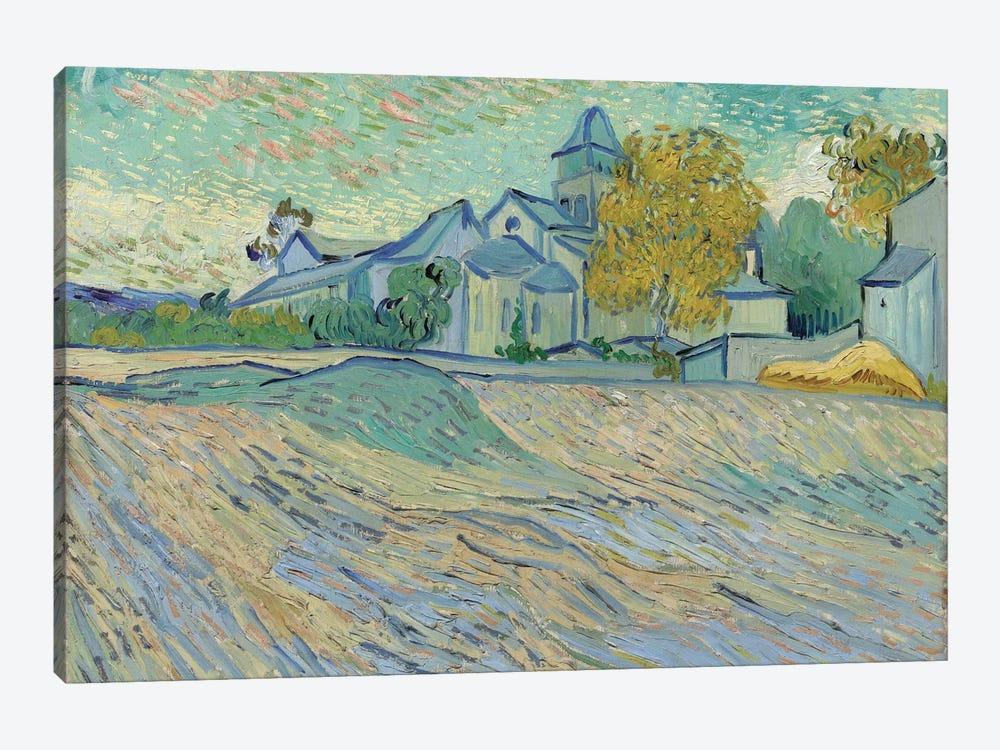 Vue de L'Asile et de la Chapelle de Saint-Remy, 1889  by Vincent van Gogh 1-piece Canvas Art