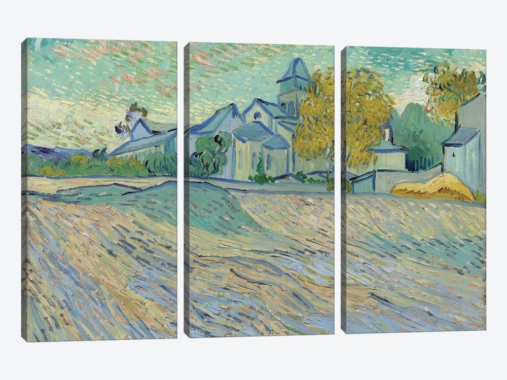 Vue de L'Asile et de la Chapelle de Saint-Remy, 1889  by Vincent van Gogh 3-piece Canvas Art
