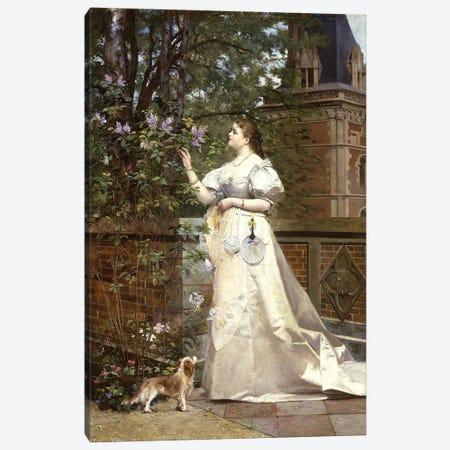 Picking Lilacs, 1874  Canvas Print #BMN5674} by Paul Alphonse Viry Art Print