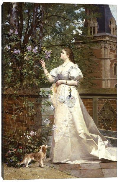 Picking Lilacs, 1874  Canvas Art Print