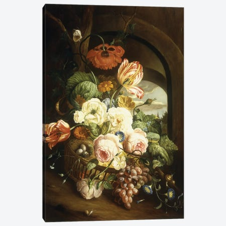 Still life with assorted flowers  Canvas Print #BMN5677} by Josef Holstayn Canvas Print