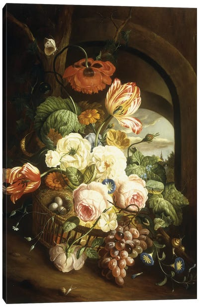 Still life with assorted flowers  Canvas Art Print
