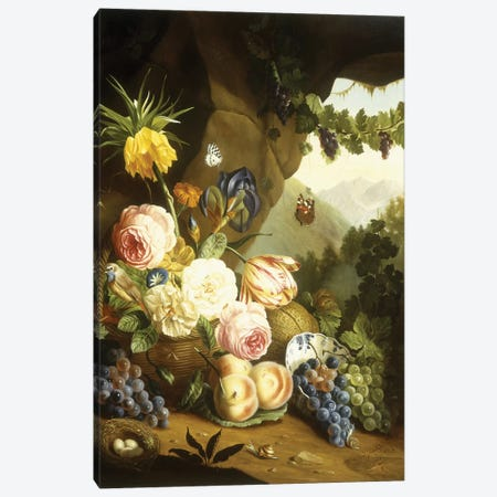 Still life with assorted flowers  Canvas Print #BMN5678} by Josef Holstayn Canvas Wall Art