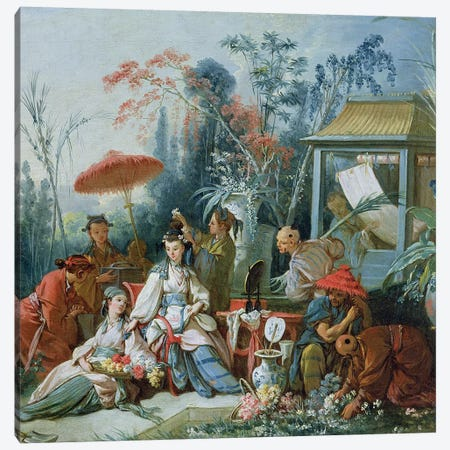 The Chinese Garden, c.1742  Canvas Print #BMN567} by Francois Boucher Canvas Wall Art