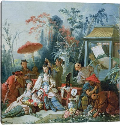 The Chinese Garden, c.1742  Canvas Art Print
