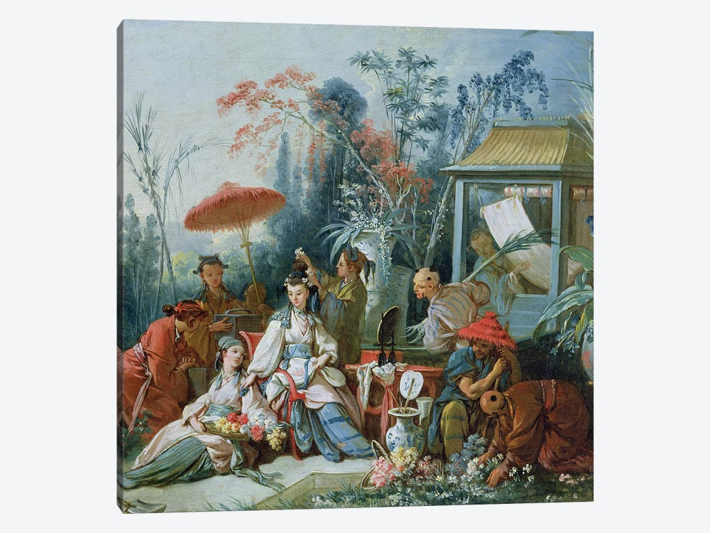 The Chinese Garden, c.1742  by Francois Boucher 1-piece Canvas Wall Art
