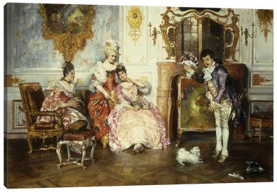 The Interrupted Proposal, 1889  Canvas Art Print