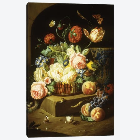 Still life with assorted flowers  Canvas Print #BMN5682} by Josef Holstayn Art Print