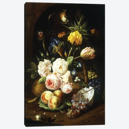 Still life with assorted flowers  Canvas Print #BMN5683} by Josef Holstayn Canvas Print