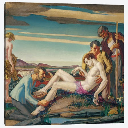 The Death of Hyacinth, 1920s  Canvas Print #BMN5686} by Harry Morley Canvas Artwork