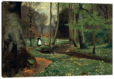 The Woodland Path Canvas Art Print