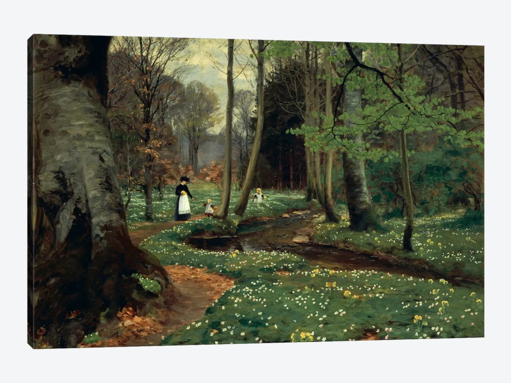 The Woodland Path by Hans Andersen Brendekilde 1-piece Canvas Wall Art